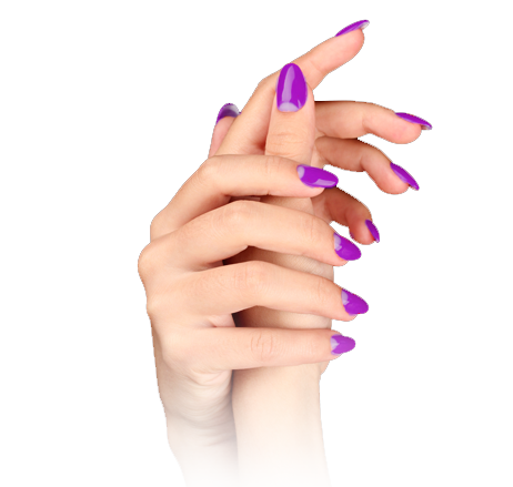 manicuring model hands
