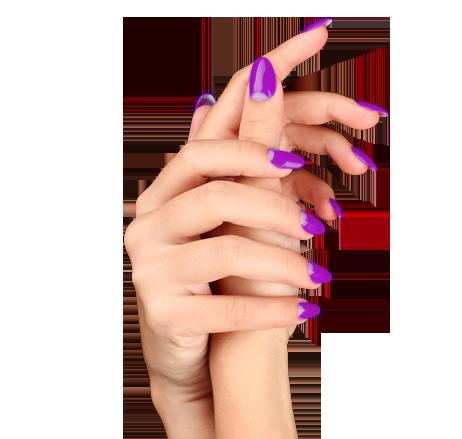 manicuring model hands